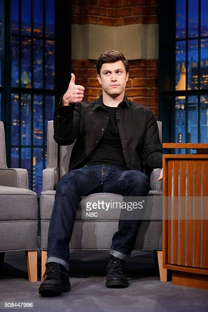 Comedian Colin Jost during an interview on February 4 2016