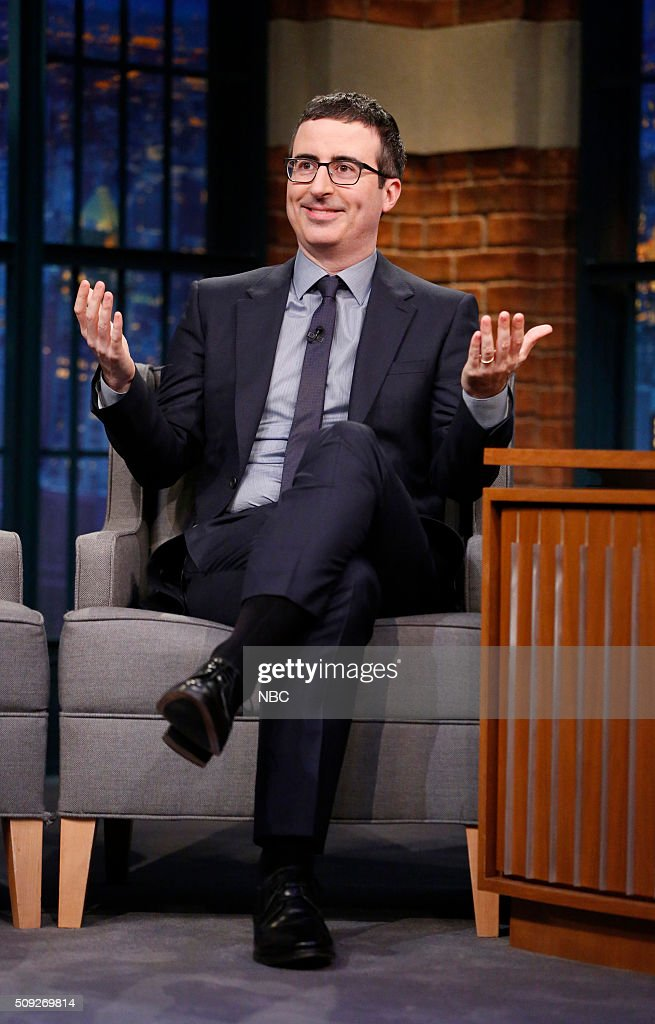 """NBC's """"Late Night With Seth Meyers"""" With Guests John Oliver, Aidy Bryant, April Bloomfield"""