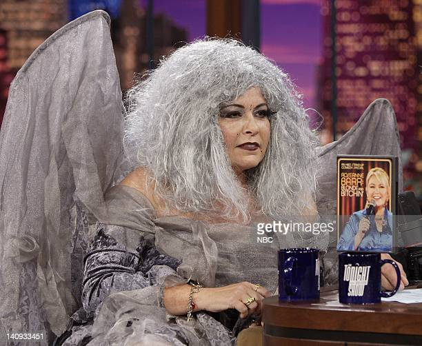 Actress Roseanne Barr in costume during an interview with host Jay Leno on October 31 2006 Photo by Paul Drinkwater/NBCU Photo Bank