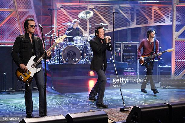 Musicians Robert DeLeo Ray Luzier Richard Patrick and Dean DeLeo of musical guest Army of Anyone perform on November 10 2006
