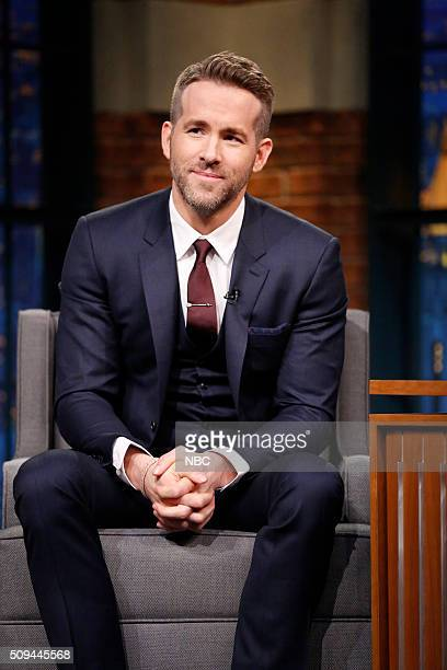 Actor Ryan Reynolds during an interview on February 10 2016