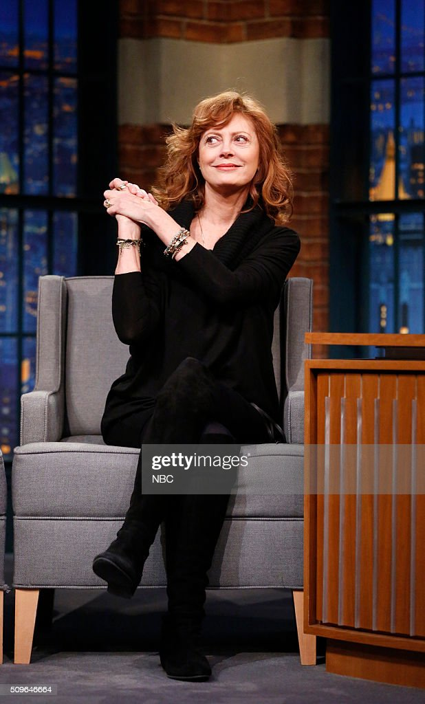 Actress Susan Sarandon during an interview on February 11, 2016 --