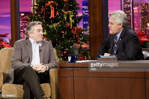 Actor Robert De Niro during an interview with host Jay Leno on December 19 2006
