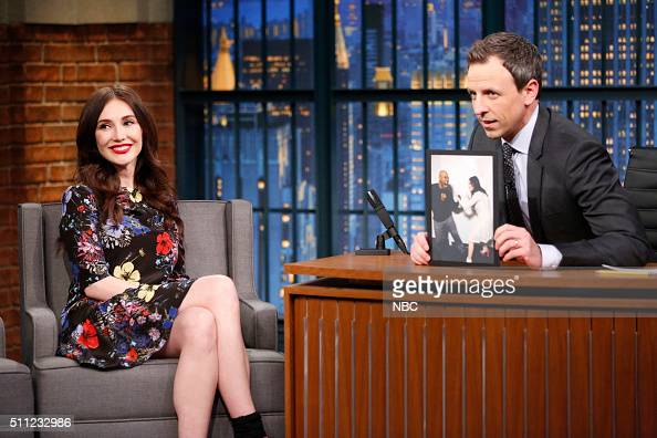 Actress Carice van Houten during an interview with host Seth Meyers on February 18 2016