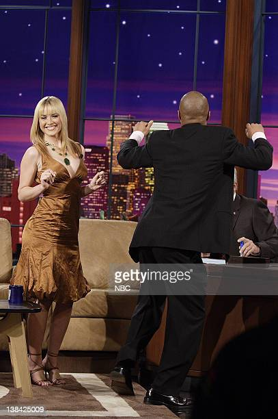 Miss USA Tara Conner and actor Cuba Gooding Jr during an interview on February 2 2007