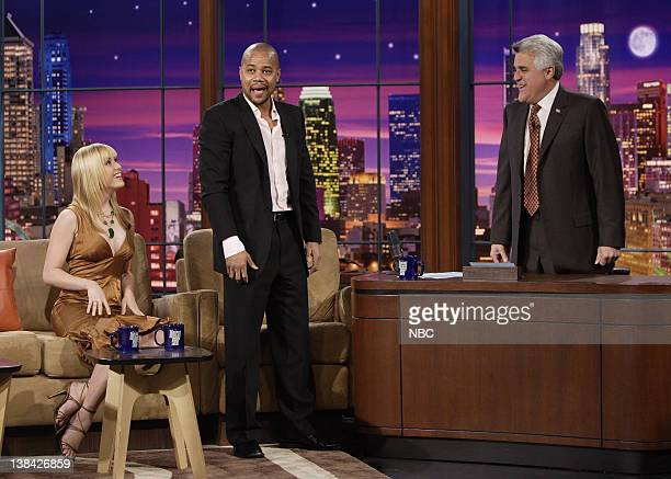 Miss USA Tara Conner and actor Cuba Gooding Jr during an interview with host Jay Leno on February 2 2007