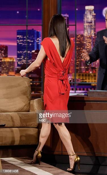Actress Courteney Cox and host Jay Leno on February 26 2007