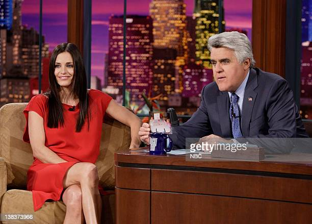 Actress Courteney Cox during an interview with host Jay Leno on February 26 2007