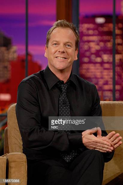 Actor Kiefer Sutherland during an interview on April 26 2007