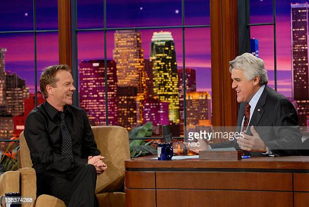 Actor Kiefer Sutherland during an interview with host Jay Leno on April 26 2007