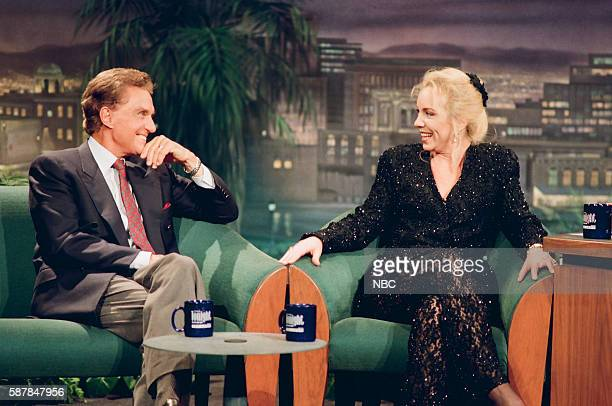 Actor Robert Stack and actress Brett Butler during an interview on November 8 1993