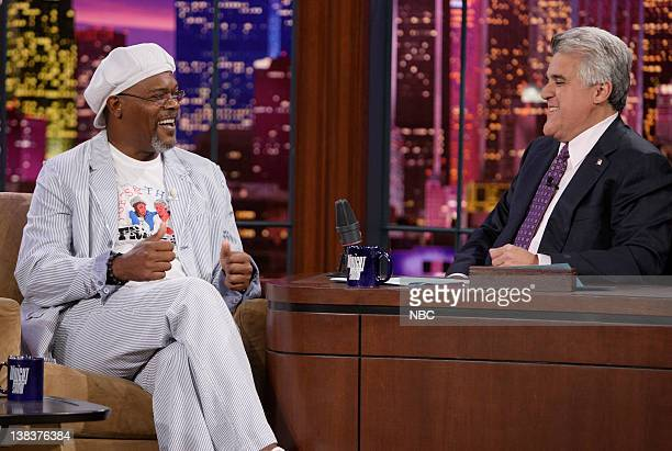 Actor Samuel L Jackson during an interview with host Jay Leno on June 20 2007