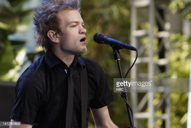 Musical guest Sum 41 performs as part of the Toyota Concert Series on July 24 2007 Photo by Paul Drinkwater/NBCU Photo Bank