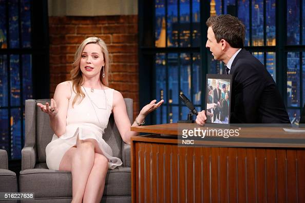 Actress Melissa George during an interview with host Seth Meyers on March 17 2016