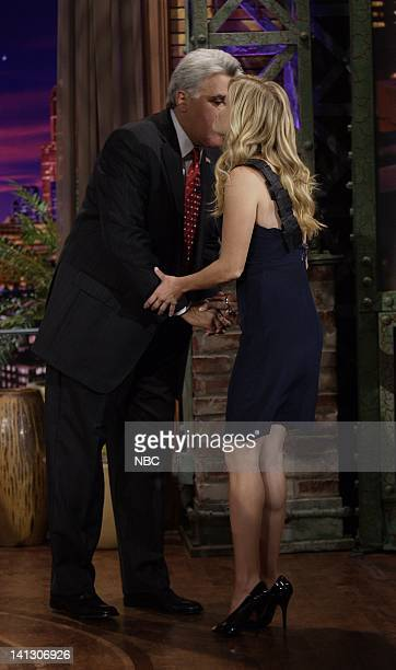 Host Jay Leno greets actress Reese Witherspoon on October 16 2007 Photo by Dave Bjerke/NBCU Photo Bank