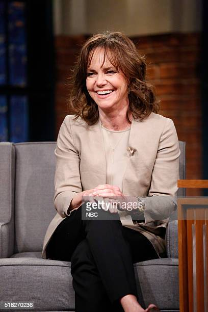 Actress Sally Field during an interview on March 30 2016
