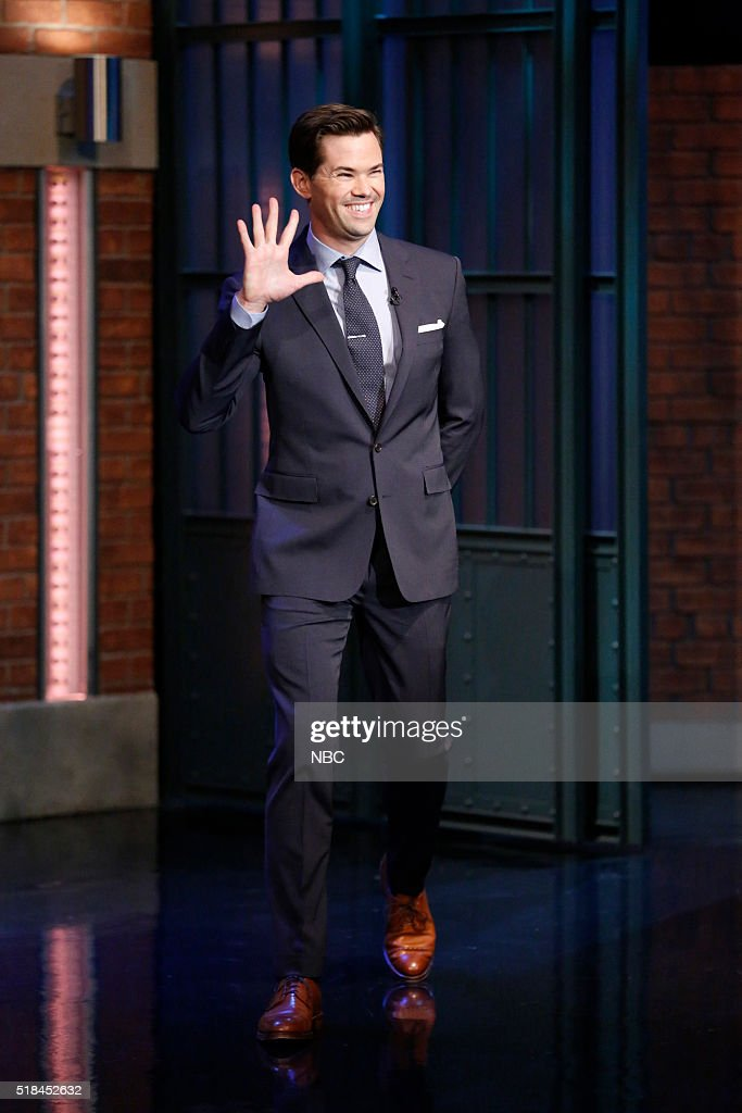 Actor Andrew Rannells arrives on March 31, 2016 --