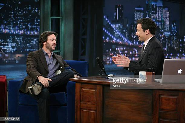 Jimmie Johnson during an interview with Jimmy Fallon on November 22 2010