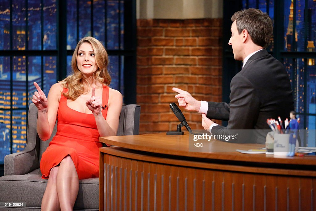 Actress Ashley Greene during an interview with host Seth Meyers on April 6 2016