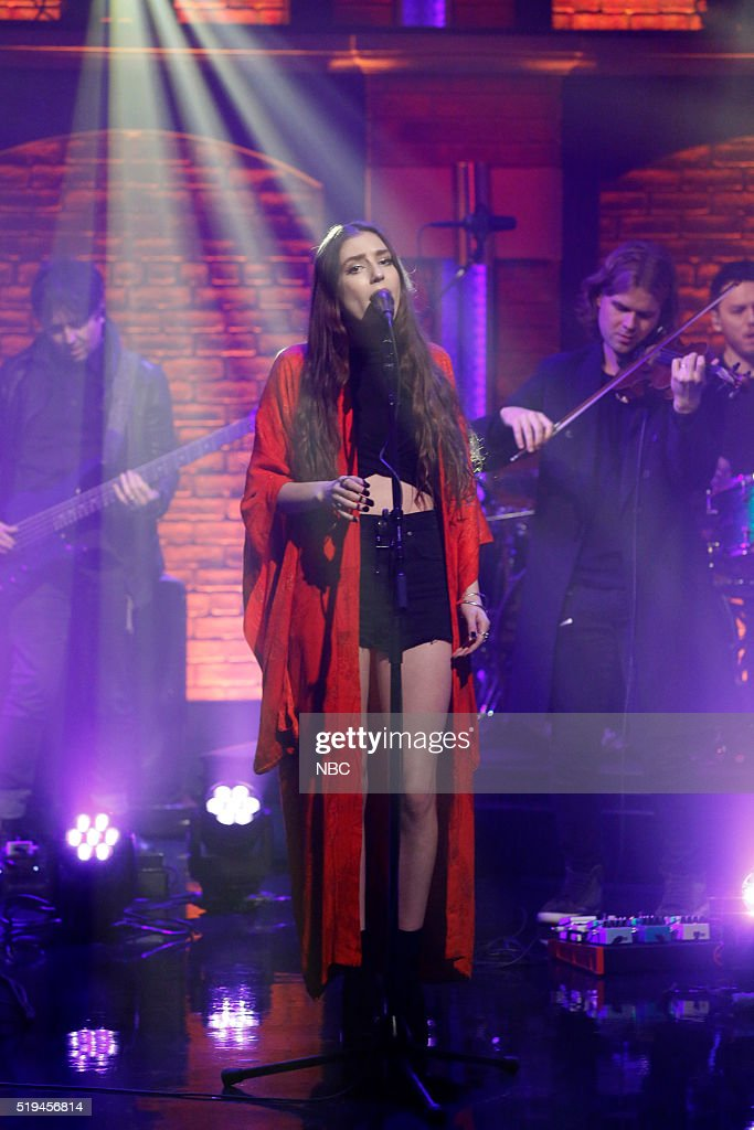Musical guest Birdy performs on April 6, 2016 --