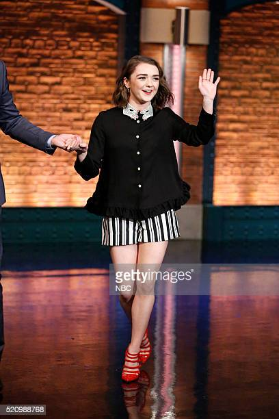 Actress Maisie Williams arrives on April 13 2016
