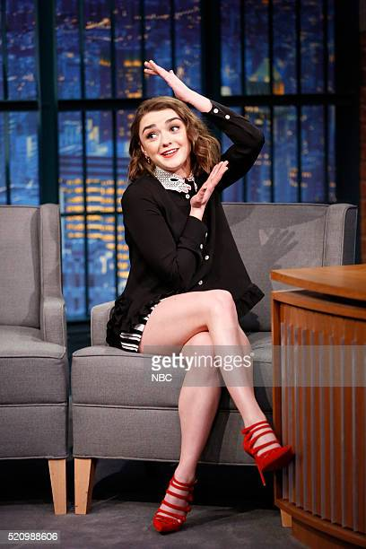 Actress Maisie Williams during an interview on April 13 2016