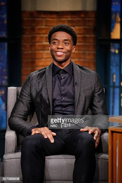 Actor Chadwick Boseman during an interview on May 2 2016