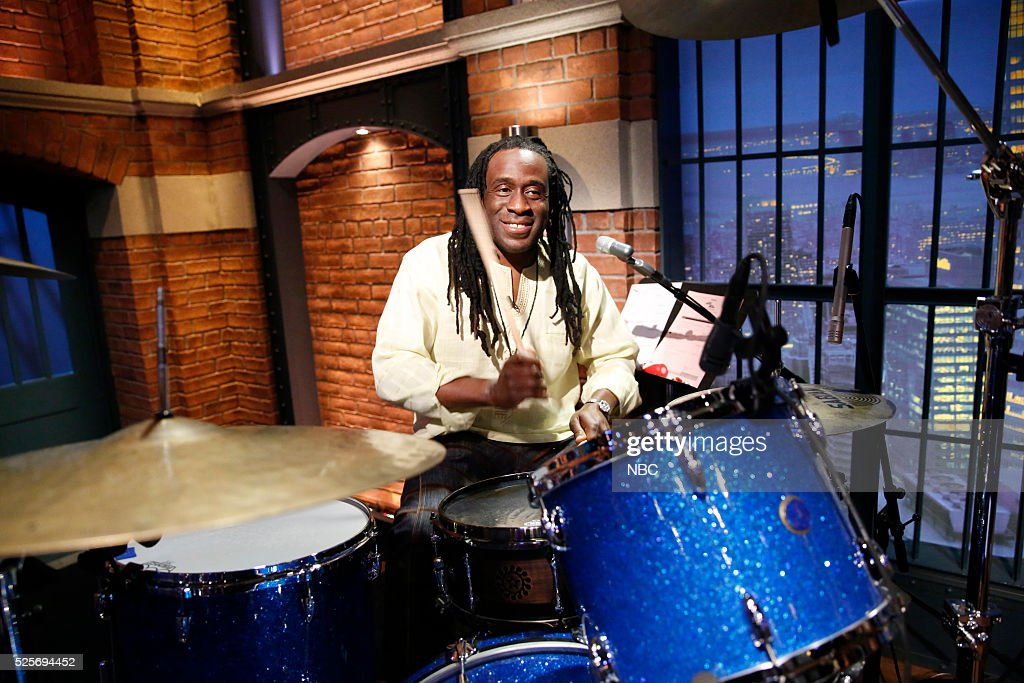 Will Calhoun of the band 'Living Colour' sits in with the 8G Band on April 28, 2016 --