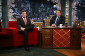 Jimmy Fallon during an interview with John Lovitz on December 16 2010