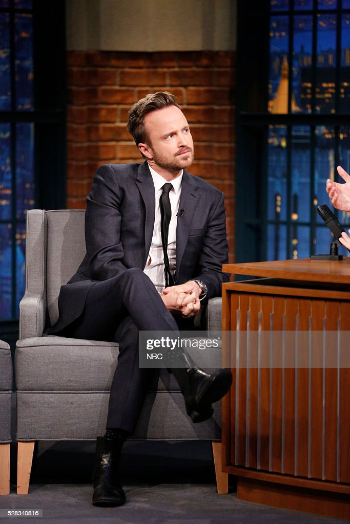 Actor Aaron Paul during an interview on May 4, 2016 --