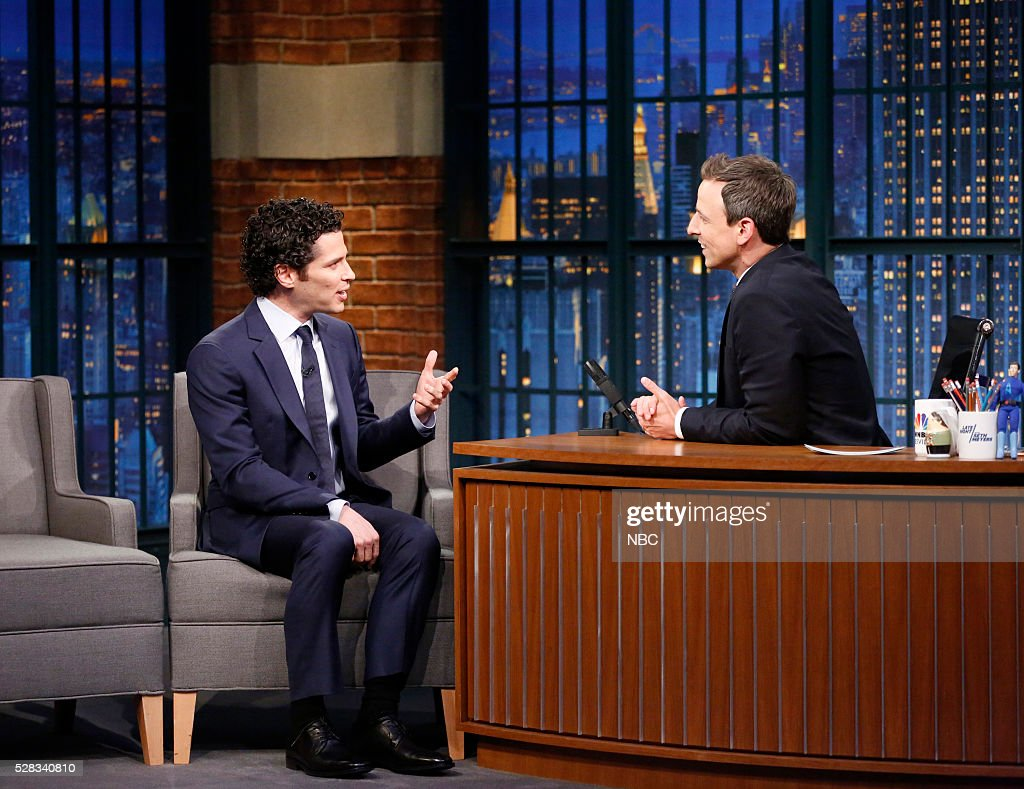 Director Thomas Kail during an interview with host Seth Meyers on May 4, 2016 --