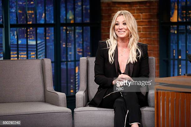 Actress Kaley Cuoco during an interview on May 10 2016
