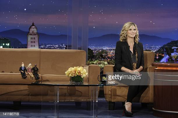 BRIEN Episode 37 Air Date Pictured Barbie dolls of Conan O'Brien Heidi Klum and Seal Project Runway host Heidi Klum during an interview on July 28...