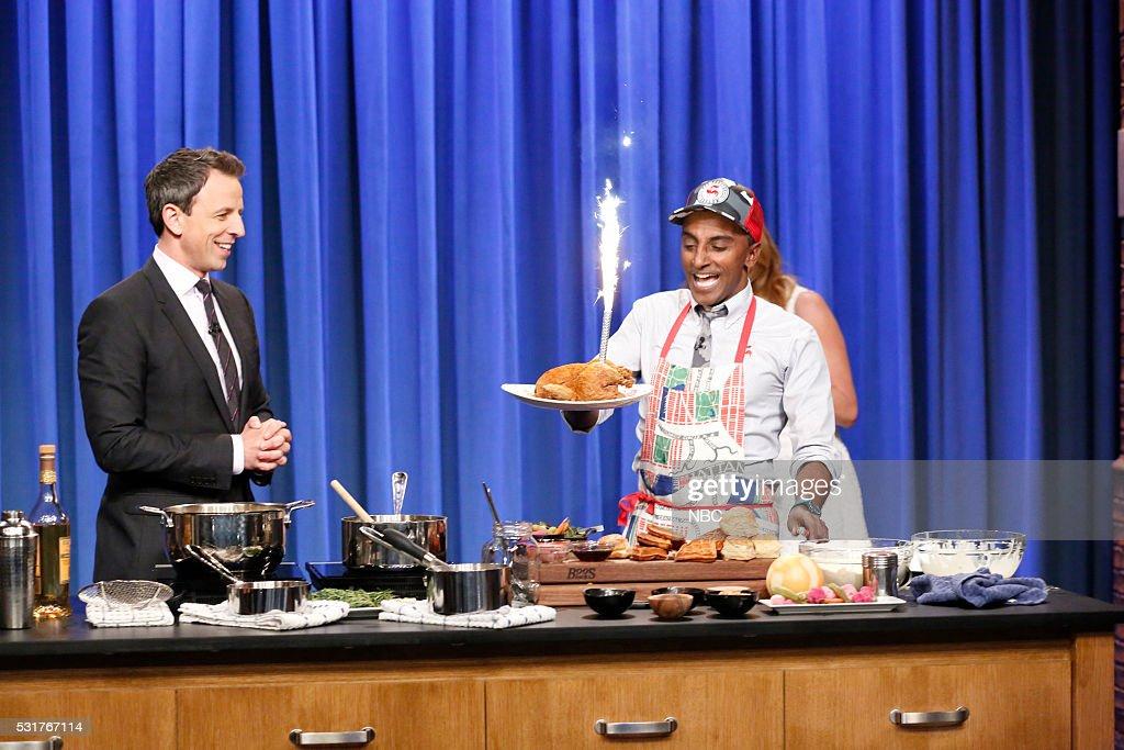 "NBC's ""Late Night With Seth Meyers"" With Guests Connie Britton, Natasha Leggero, Marcus Samuelsson"