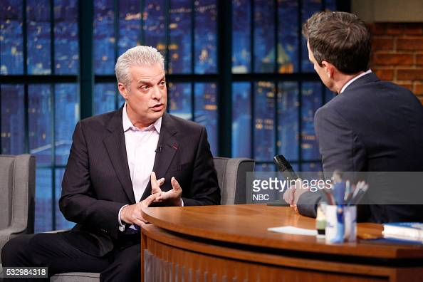 Chef Eric Ripert during an interview with host Seth Meyers on May 19 2016
