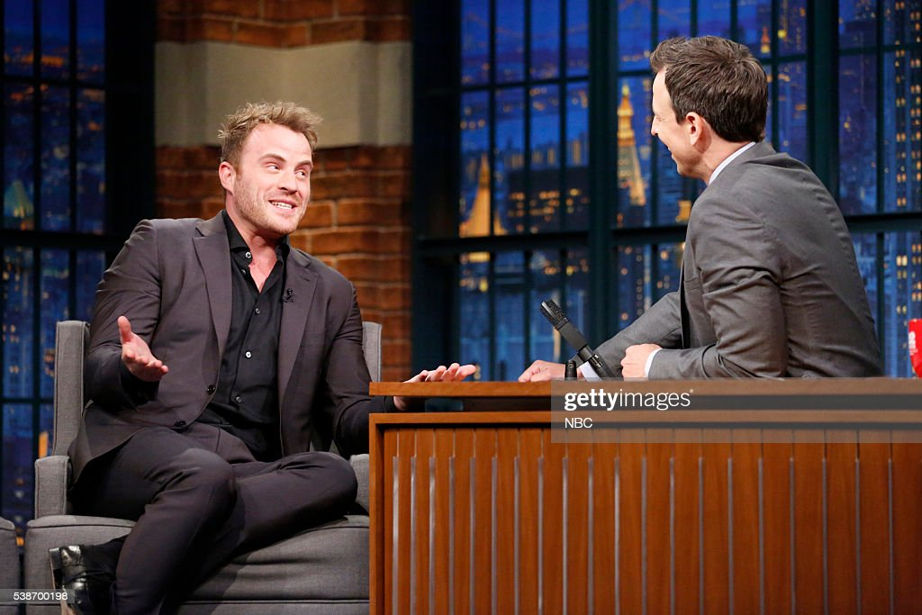 Actor Rob Kazinsky during an interview with host Seth Meyers on June 7 2016