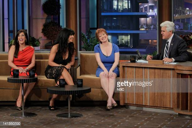 The Real Housewives of New Jersey Jacqueline Laurita Teresa Giudice and Caroline Manzo during an interview with host Jay Leno on April 26 2010 Photo...