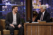 Actor Jason Segel during an interview with host Jay Leno on July 6 2010 Photo by Stacie McChesney/NBCU Photo Bank