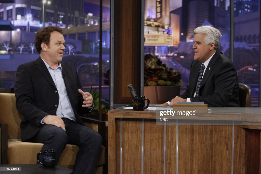 Actor John C Reilly during an interview with host Jay Leno on July 7 2010 Photo by Stacie McChesney/NBCU Photo Bank