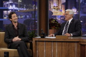 Actor Adrien Brody during an interview with host Jay Leno on July 9 2010 Photo by Stacie McChesney/NBCU Photo Bank