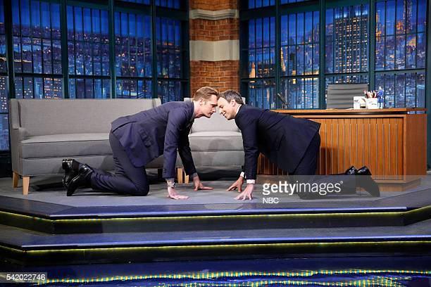 Actor Alexander Skarsgard during an interview with host Seth Meyers on June 21 2016