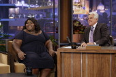 Actress Gabourey Sidibe during an interview with host Jay Leno on July 30 2010 Photo by Paul Drinkwater/NBCU Photo Bank