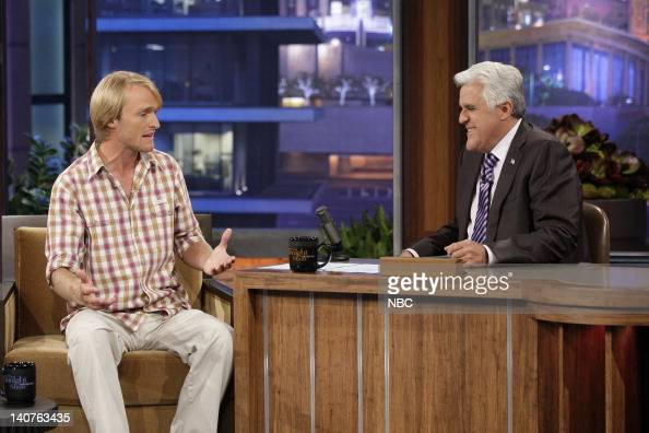 Czech 'Fish Warrior' Jakub Vagner during an interview with host Jay Leno on July 30 2010 Photo by Paul Drinkwater/NBCU Photo Bank