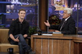 Actor/musician Justin Timberlake during an interview with host Jay Leno on September 20 2010 Photo by Paul Drinkwater/NBC/NBCU Photo Bank