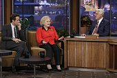 Actor Ryan Reynolds actress Betty White during an interview with host Jay Leno on September 22 2010 Photo by Paul Drinkwater/NBC/NBCU Photo Bank