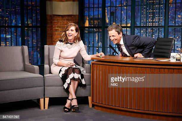 Actress Kristen Wiig during an interview with host Seth Meyers on July 14 2016