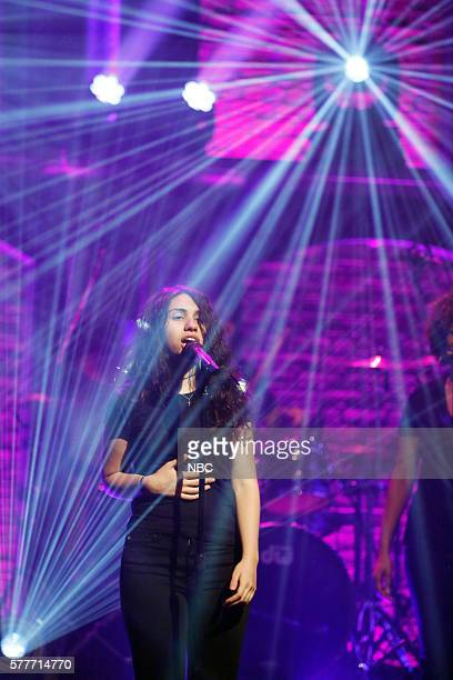 Musical guest Alessia Cara performs on July 19 2016