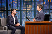Actor Dominic Cooper during an interview with host Seth Meyers on July 20 2016
