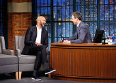 Comedian KeeganMichael Key during an interview with host Seth Meyers on July 20 2016