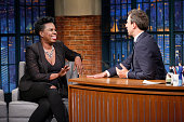 Actress Leslie Jones during an interview with host Seth Meyers on July 21 2016